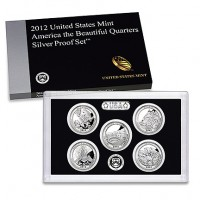 2012 America the Beautiful Quarters Silver Proof Set (US Mint image)