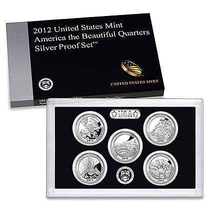 2012 Atb Quarters Silver Proof Set Us Coins