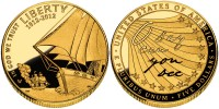 2012 Star-Spangled Banner Commemorative $5 Gold Coin (US Mint images)