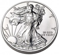 American Eagle Silver Coin (Obverse) (US Mint image)