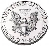American Eagle Silver Coin (Reverse) (US Mint image)