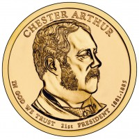 Chester Arthur Presidential $1 Coin (Obverse) (US Mint image)