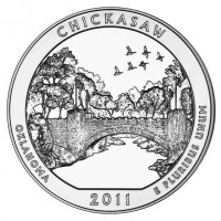 Chickasaw Five Ounce Silver Coin (US Mint image)