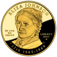 Eliza Johnson First Spouse Gold Coin (Obverse) (US Mint image)
