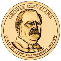 Grover Cleveland (First Term) Presidential $1 Coin (Obverse) (US Mint image)