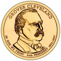 Grover Cleveland (Second Term) Presidential $1 Coin (Obverse) (US Mint image)
