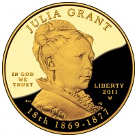 Julia Grant First Spouse Gold Coin (Obverse) (US Mint image)