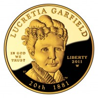 Lucretia Garfield First Spouse Gold Coin (Obverse) (US Mint image)
