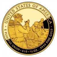 Lucy Hayes First Spouse Gold Coin (Reverse) (US Mint image)