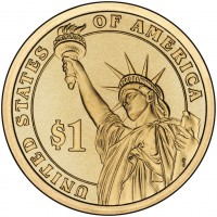Presidential $1 Coin (Reverse) (US Mint image)