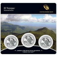 El Yunque National Forest Quarter Three-Coin Set (US Mint image)