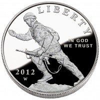 2012 Infantry Soldier Proof Silver Dollar - Reverse (US Mint image)
