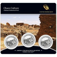2012 America the Beautiful Three-Coin Set - Chaco Culture National Historical Park (US Mint image)