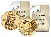 2012 Native American $1 Coin 100-Coin Bag (US Mint image)