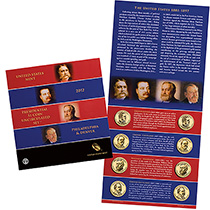 2012 Presidential $1 Coin Uncirculated Set